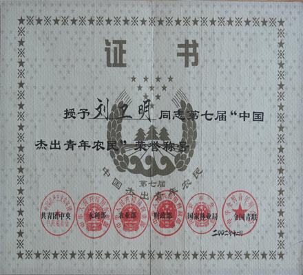 中国杰出青年农民