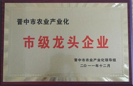 晋中市农业产业化市级龙头企业