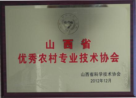 山西省优秀农村专业科技协会